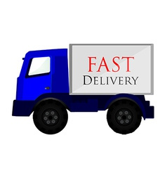 Delivery car blue vector image