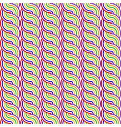 Design seamless colorful waving pattern vector image