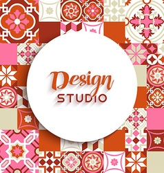 Design studio background mosaic tile decoration vector