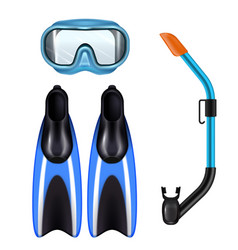 diving set realistic vector image