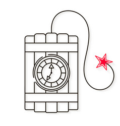 dynamite line style icon image on white vector image