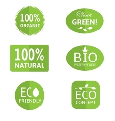 Ecology labels collection vector