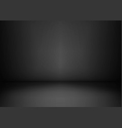 Empty black studio room dark background abstract vector