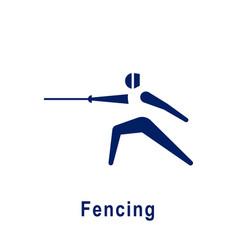 Fencing pictogram new sport icon vector