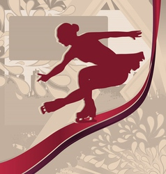 figure skating vector image