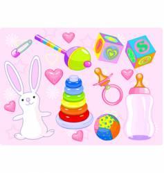 Girl toys vector