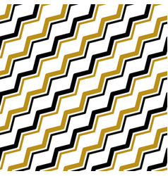 gold black zigzag line seamless pattern vector image