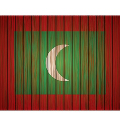grunge maldives flag Eps10 vector image