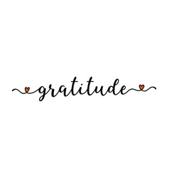Hand sketched gratitude word as banner lettering vector
