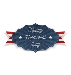 Happy Memorial Day festive Label with Text vector image