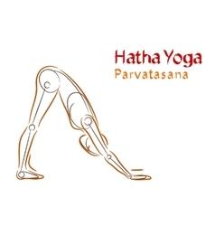 Hatha yoga parvatasana vector