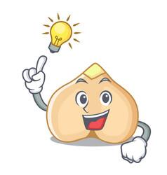 have an idea chickpeas mascot cartoon style vector image