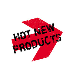 Hot new products rubber stamp vector