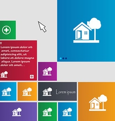 House icon sign buttons Modern interface website vector