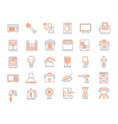 Household devices and appliance icons vector