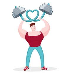 I Love Fitness vector image