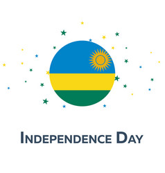 Independence day of rwanda patriotic banner vector