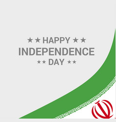 Iran independence day typographic design with flag vector