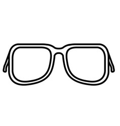 isolated sunglasses icon vector image