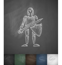 knight icon Hand drawn vector image