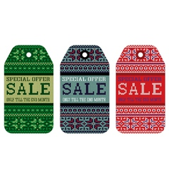 Knitting pattern ornament christmas sale vector