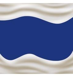 Light cream wave on light blue background vector image