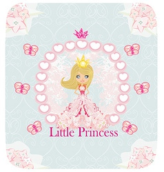 little Princess abstract card vector image