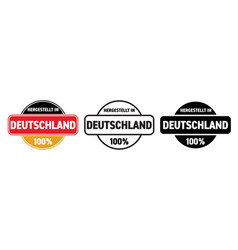 made in germany icon hergestellt in deutschland vector image