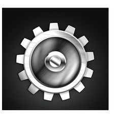 metallic gear icon design vector image