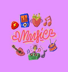 music set vector image