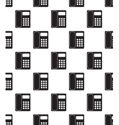 office phone seamless vector image