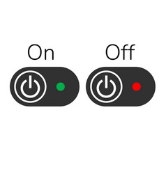 on off buttons or switch with light indicator vector image