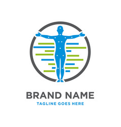 organ therapy logo design in body vector image