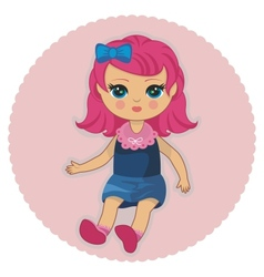 Pretty doll vector