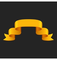 Promotional yellow ribbon on dark background for vector image