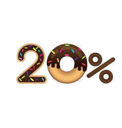 sale 20 percent and discount price lettering made vector image