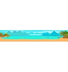 Sea panorama tropical beach Background vector image