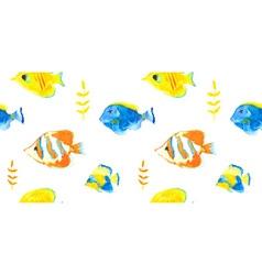 Seawater fishesseamless pattern vector