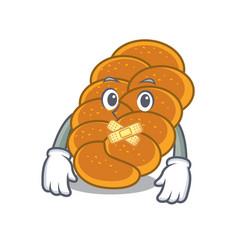 Silent challah mascot cartoon style vector