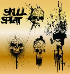 Skull splat vector