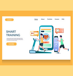 smart training website landing page design vector image