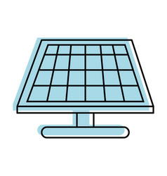 solar panel icon vector image