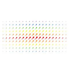 spermatozoon spectral halftone pattern vector image