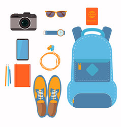 things that people take with them on a trip vector image