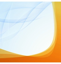 Transparent orange border folder template vector image