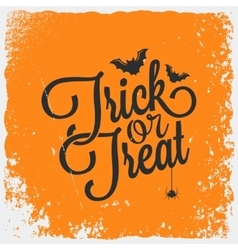 trick or treat halloween lettering background vector image