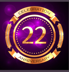 Twenty two years anniversary celebration with vector