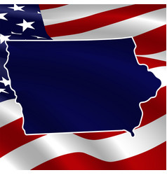 united states iowa dark blue silhouette the vector image
