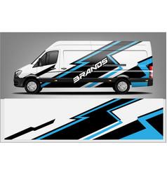 Van wrap livery design vector