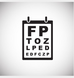 vision test table on white background vector image